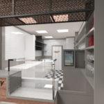 rendering 3d ristorante